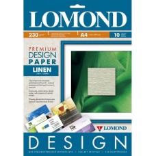 Бумага для дизайнерских работ PREMIUM Лен, 230/А4/10л, матовая