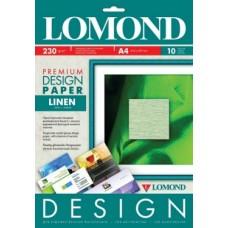 Бумага для дизайнерских работ PREMIUM Лен, 230/А4/10л, глянцевая