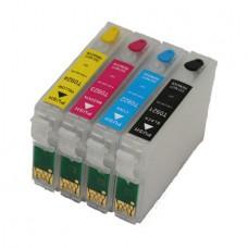 Комплект перезаправляемых картриджей (ПЗК) Hi-Black для Epson C91/TX106 пустые с чипом